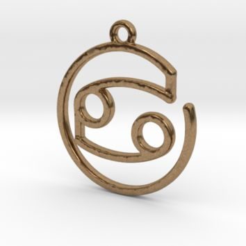 Cancer Zodiac Pendant by Jilub on Shapeways