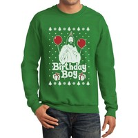 TeeStars - Jesus Birthday Boy Ugly Christmas Sweater Xmas Holiday Sweatshirt