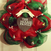 Door wreath,Christmas wreath, custom made to order,