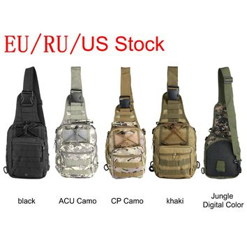 OUTAD 5 Colors 800D Military Tactical Bag Utility Camping Hiking Shoulder Bag Hunting Travel Backpack Sling Bag Drop Shipping