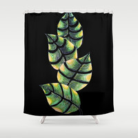 Viper Leaves Shower Curtain by ES Creative Designs