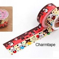 Bears and Panda San-x Deco paper masking Tape adhesive Stickers Rilakkuma bear series PR13