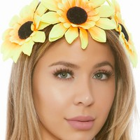 Yellow Flower Child Headband Crown