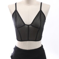 Lia Sheer Bralette Top