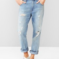 Gap Women 1969 Destroyed Authentic Boyfriend Jeans