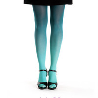 Ombre tights spruce
