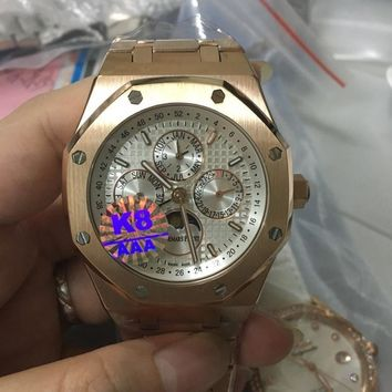 cc hcxx AP multifunction automatic rose gold White