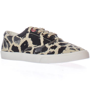 bucketfeet Michael Saint Aubin Giraffe Lace-up Sneakers, Beige/Black, 5 US / 36 EU