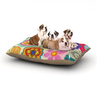 "Louise Machado ""Charming Floral"" Floral Multicolor Dog Bed"