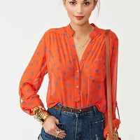 Hot Spot Blouse in Clothes Tops Shirts + Blouses at Nasty Gal