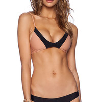 Acacia Swimwear Pupukea Bikini Top in Tan