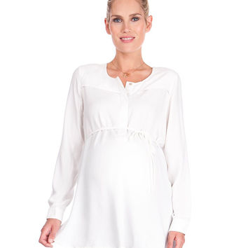 Ivory Woven Maternity Blouse
