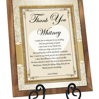 Personalized Bridesmaid Gift Plaque