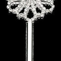 Crystal Rhinestone Scepters, 18-1/2-inch, Sunflower, CLOSEOUT