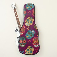 Mexican Sugar Skull Pattern Guitar Case