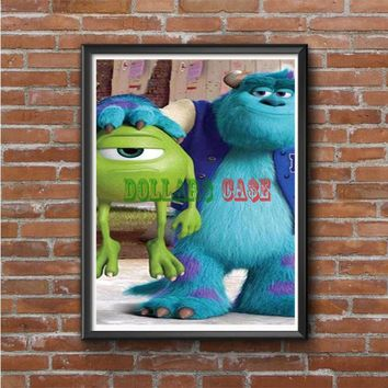 Monsters Inc sulley holding mike Photo Poster