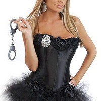 Ladies Police Fancy Dress Halloween Costume Sexy Cop Outfit Woman size S-6XL