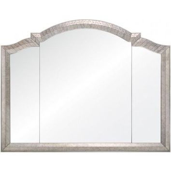 Antiqued Mirror Framed Triptic Mirror by Michael Smith