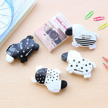 Q33 Cute Kawaii Cute Black White Horse Correction Correcting Tape Stationery Corrector Papeleria Student Gift School Supplies