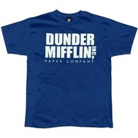 The Office - Dunder Mifflin Men's Blue T-Shirt Medium