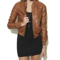 Distressed Quilted Bomber | Shop Jackets at Wet Seal