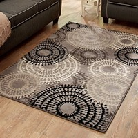 Better Homes or Gardens Taupe Ornate Circles Area Rug or Runner - Walmart.com