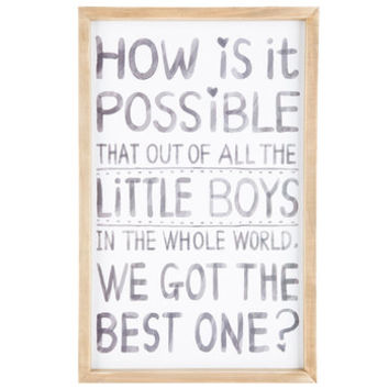 Best Little Boy Wood Wall Decor | Hobby Lobby | 1295112