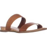 AR35 Easten Flat Two Strap Sandals, Brown, 9 US