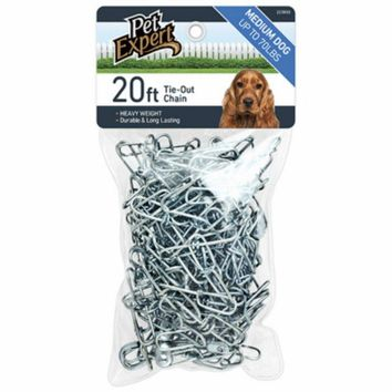 Pet Expert® PE223850 Heavy-Duty Tie Out Chain for Dogs, 20'