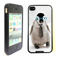 iPhone 4 4S Case ThinShell TPU Case Protective iPhone 4 4S Case Shawnex Cute Hipster Baby Penguin
