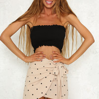 Happy Daze Skirt Mocha
