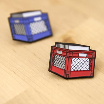 Vinyl Record Crate - Enamel Pin