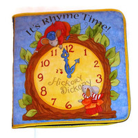 A Soft Cloth Book- RHYME TIME- introducing the characters of Mother Goose's Nursery Rhymes Illustrated with  bright colors and piping