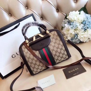DCCKFM6 Gucci Women Leather Shoulder Bag Satchel Tote Handbag