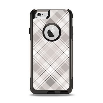 The Gray & White Plaid Layered Pattern V5 Apple iPhone 6 Otterbox Commuter Case Skin Set