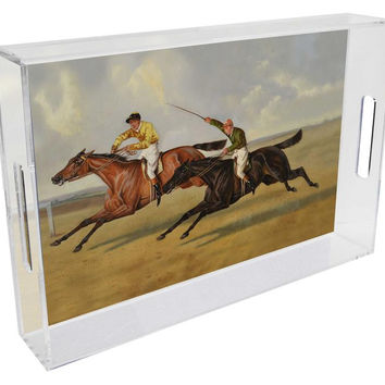 The Race Lucite Tray