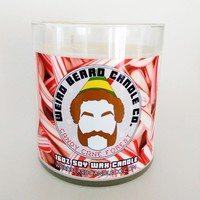 Candy Cane Forest 16oz soy candle - candy cane scented