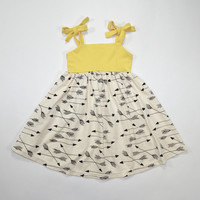 Arrows Organic Summer Dress in Yellow for Kids - Size 2T