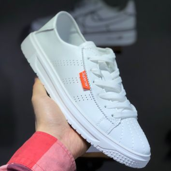 hcxx A1466 Adidas Casual White Shoes Off-White Slip-on Skateboard Shoes White