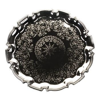 """Tray Silver Plated Round 12"""""""