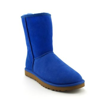 Womens UGG® Classic Short Boot, Blue  Journeys Shoes
