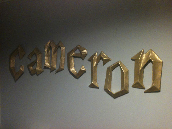 harry potter 3d wall letters by from papermachesculptures With 3d wall letters