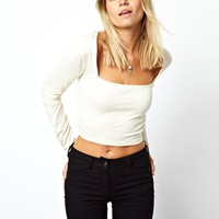 ASOS Square Neck Crop Top