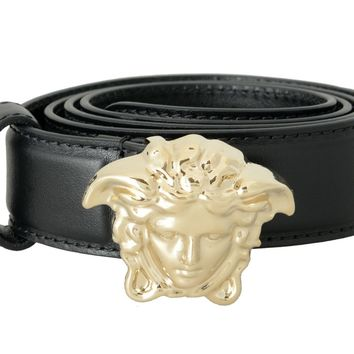Versace 100% Leather Men's Fashion Belt US 32 IT 80