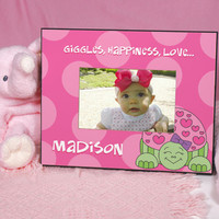 Pink Turtle Picture Frame