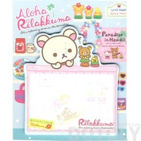 Aloha Korilakkuma Teddy Bear Shaped Hawaii Themed Adhesive Post-it Memo Pads