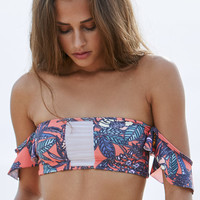 Aila Blue Aquarius Off-The-Shoulder Bandeau Bikini Top at PacSun.com