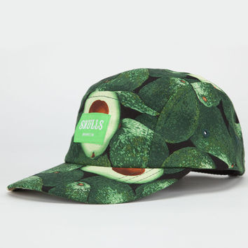 Skulls Avocado Life Mens 5 Panel Hat Green Combo One Size For Men 22791754901