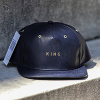 King Apparel - Luxe Snapback Cap - Navy