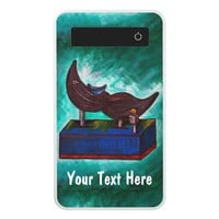 Mustache Ride Original Art Twisted Funny Painting Power Bank